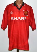 MANCHESTER UNITED 1994/1995/1996 HOME FOOTBALL SHIRT JERSEY UMBRO SIZE XXL ADULT