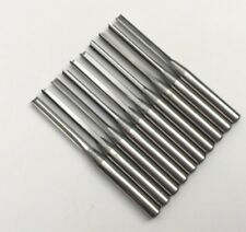 "2mm x12mm Straight 2 Flute Tools Solid Carbide 1/8"" Cutter CNC Cutters Carve"