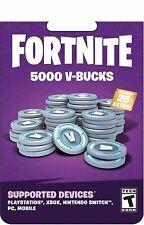 Fortnite 5000 V Bucks Gift Card - all devices