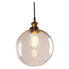 Modern Industrial Metal Glass Loft Pendant Lamp Retro Ceiling Light Vintage U3G3