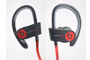 USED Powerbeats2 by Dr. Dre Wireless Bluetooth Headphones Black/Red (B0516)