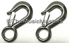 "(2) Stainless Steel 4"" Winch Cable Eye Hook Trailer ATV Boat Towing Chain Rope"