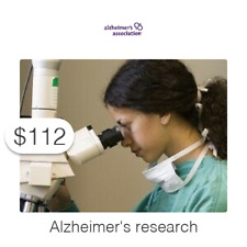 $112 Charitable Donation For: Alzheimer's and dementia research