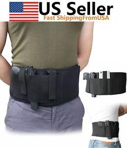 Belly Band Holster Tactical Concealed Hand Gun Carry Pistol Waist Hidden Belt US