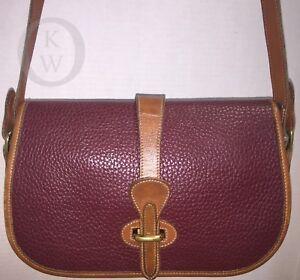 Vintage Dooney & Bourke~AWL~R50 Over/Under~Rouge Red~ Handbag/Shoulder Bag