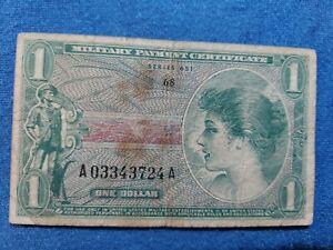 1965 Series 651 - M72E 1 Dollar Used in 1969-73 Japan, Korea & Lybya
