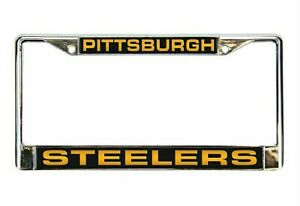 Pittsburgh Steelers Silver Laser License Plate Frame