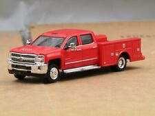 dcp/greenlight dually red Chevrolet 3500 crew cab service truck 1/64.
