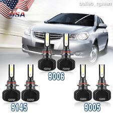 9005 9006 LED Headlight + 9145 Fog Lights for Chevy Silverado 1500 2500 HD 03-06