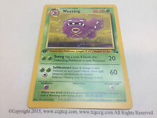 Pokemon Fossil Set 1st Edition Card - Weezing 45/62 Mint
