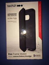 Lot Of 2 Pc Tech21 Evo Wallet For Samsung Galaxy S6 Edge Case D3O Card Slot Case