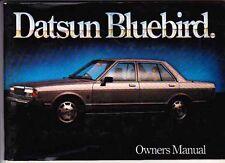 1981 DATSUN BLUEBIRD 910 SERIES Australian Owners Manual