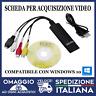 USB 2.0 Scheda di Acquisizione Video Audio Convertitore VHS in DVD Scart Kit🇮🇹
