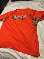 Vintage BADGER SPORTS Xl Baltimore Orioles Baseball Shirt Jersey Play For Name