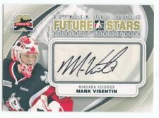 11/12 BETWEEN THE PIPES GOALIEGRAPH AUTOGRAPH AUTO MARK VISENTIN ICEDOGS *49811