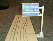 Tyco US1 Electric Trucking PA Welcome Sign slot car track accessory