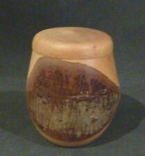 Tasmanian Horizontal wooden  Small Bowl & lid,8 cm high