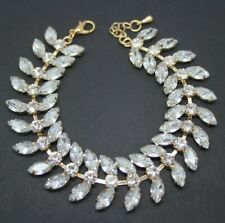 Beautiful Vintage Art Deco Revival Crystal Navette Rhinestone BRACELET Jewellery