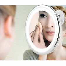 Touch Control Lighted LED Makeup Mirror 7X Magnification Travel Bathroom Counter