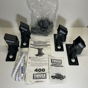 Thule Aero Foot Set of 4 Towers Part #400 Black for Square Bars w Covers
