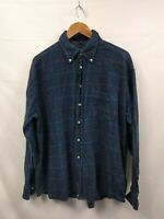 Mens McNeal Navy Blue Red Check Vintage Long Sleeve Casual Shirt Size 2XL#2B2