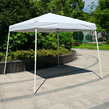 10'x 10'Easy Pop-Up Canopy Party Tent SunShade Pop Up Gazebo White
