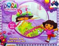 Aus Qlty Dora the Explorer Double/King Single Bed Doona/Duvet/Quilt Cover Set