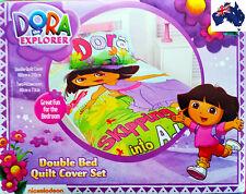Aus Qlty Dora the Explorer Double/King Single Bed Doona/Duvet/Quilt Cover Set