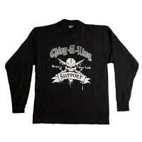Bronx NY Motorcycle club Ching a ling 3:14 Tshirt Med Long Sleeve black Vintage