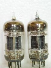 Matched Pair GE 5751 Black Plates 3 Mica Square Getter 12AX7 TUBES