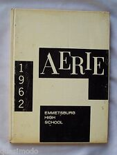1962 EMMETSBURG HIGH SCHOOL YEARBOOK EMMETSBURG, IOWA  THE AERIE  UNMARKED
