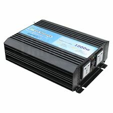 1000W pure sine wave inverter 12V battery to 230V (solar, off-grid, back up)
