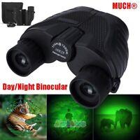 10x25 Zoom BAK4 Mini Binoculars Day/Night Optics Hunting Camping High Power+Case