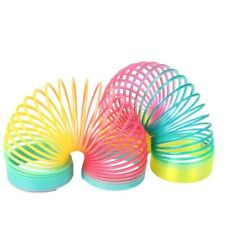 Rainbow Slinky Spring Toy Magic Colorful Circle Coil Children Funny Toys