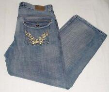 0fe2b947e0b964 Jordan Craig Mens Loose Fit Distressed Denim Blue Jeans Size W 36 L 31