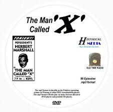THE MAN CALLED X - 99 Shows - Old Time Radio In MP3 Format OTR On 1 DVD
