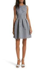 TED BAKER grey pearl embellished fit & flare full skirt prom dress wedding 1 8
