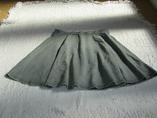 Short Blue Skater Skirt by New Look in Size 12 - stretchy