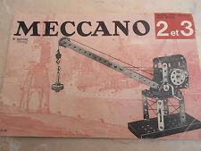 catalogue meccano 2 et 3 ( ref 2 )