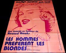 1956 Gentlemen Prefer Blondes ORIGINAL FRENCH POSTER Marilyn Monroe Jane Russell