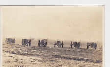Postcard Rppc England Cannons And Fence Along Coast unused real photo