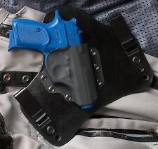 Bersa Thunder 380 Black Leather Kydex Gun Holster IWB Tuck