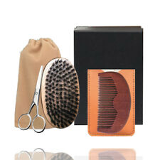 Black Friday Deals Beard Brush & Comb Set Men's Mustache Style Shear Scissors