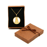 Caridad del Cobre Medal catholic Religious Stainless Steel Pendant (SSPC30MCH-G)