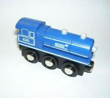 Blue Train Engine Magnetic Ends and Wheels