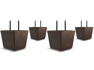 """2 1/4"""" High Universal HDPE Plastic Furniture Triangle Sofa/Couch/Chair Legs (4)"""