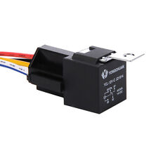 1Pcs DC 12V Car SPDT Automotive Relay 5 Pin 5 Wires w/Harness Socket 30/40 Amp