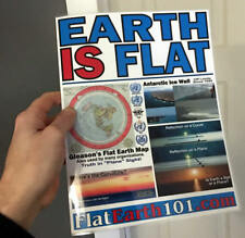 Flat Earth Menu - Perfect for Meet Ups and Activism -Laminated and Free Standing