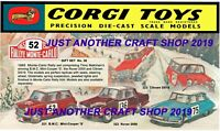 Corgi Toys GS 38 Monte Carlo Gift Set Large Poster Shop Sign Advert Leaflet 1965
