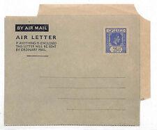 Vv351 1950 Fiji Airletter Kgvi 3d Die Unused Postal Stationery {samwells-covers}